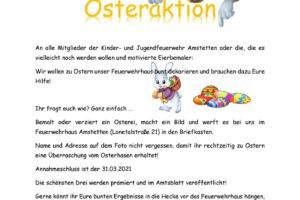 Osteraktion 2021 - Jugendfeuerwehr Amstetten