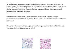 Kinder- und Jugendfeuerwehr Amstetten - Große Resonanz bei Osteraktion